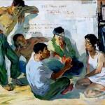 """""""Chuyện sau Phượt"""" - Tranh sơn dầu của Nguyễn Quang Hải"""