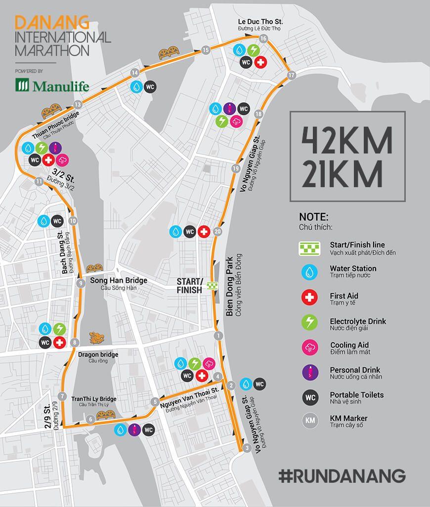 Bản đồ chính thức đường chạy DNIM 2016